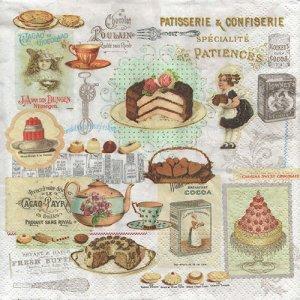 ペーパーナプキン(33)NOUVEAU:(5枚) Patisserie&Confiserie-NO121