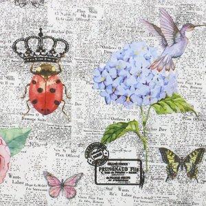 ペーパーナプキン(33)NOUVEAU:(5枚) Colorful News-NO123