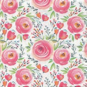 ペーパーナプキン(33)Daisy:(5枚)Watercolour Painted Flowers-DA115