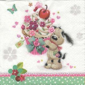 ペーパーナプキン(33)Daisy:(5枚)Cupcake Gift from Doggie-DA117