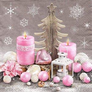 ペーパーナプキン(33)Maki:(5枚)Pastel Christmas Composition-MA169
