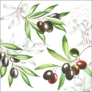 ペーパーナプキン(33)AMB:(5枚)Olives-AM635