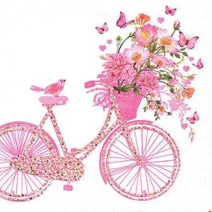 ペーパーナプキン(33)ppd:(5枚)Happy Bike-PP351