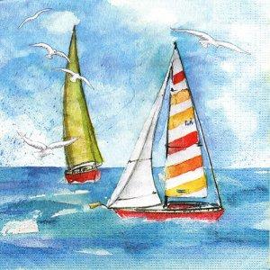 ペーパーナプキン(33)ppd:(5枚)Sailing-PP357