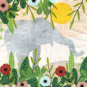 ペーパーナプキン(33)paper duni:(5枚)Sumatran Elephant-PA318