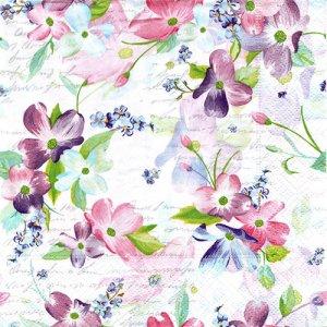 ペーパーナプキン(33)paper duni:(5枚)Sweet Pinks-PA319