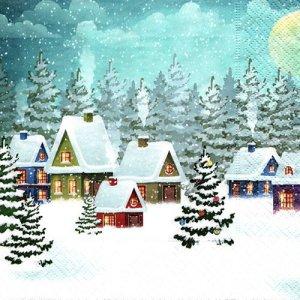 ペーパーナプキン(33)paper duni:(5枚)Village Snow-PA324