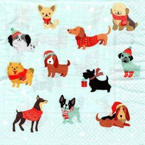 ペーパーナプキン(33)paper:(5枚)Merry Dogs-PA330