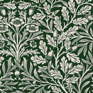ペーパーナプキン(33)IHR:(5枚)ACORN(ウィリアム・モリス)green linen(V&A)-IH460