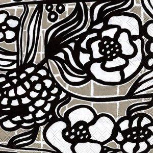 ペーパーナプキン(33)marimekkoマリメッコ:(5枚)【m-104】FLORISTI linen
