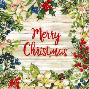 ペーパーナプキン(33)ppd:(5枚)Merry Christmas-PP371