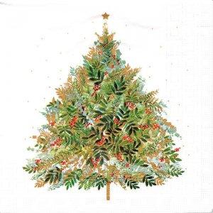 ペーパーナプキン(33)ppd:(5枚)Christmas Hill Tree-PP377