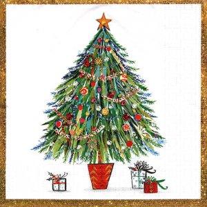 ペーパーナプキン(33)ppd:(5枚)Christmas Tree-PP378