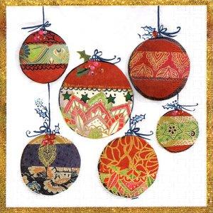 ペーパーナプキン(33)ppd:(5枚)Christmas Ornament-PP379