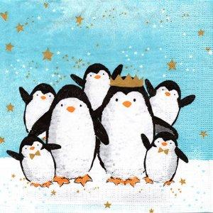 ペーパーナプキン(33)ppd:(5枚)Penguin Family-PP382