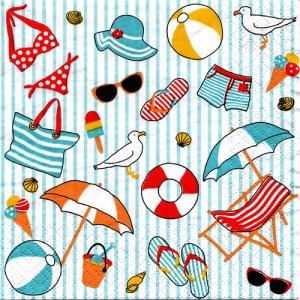 ペーパーナプキン(33)AT:(5枚)ビーチ-AT2