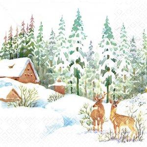 ペーパーナプキン(33)home:(5枚)Winter Scene-HO238