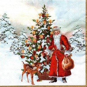 ペーパーナプキン(33)VB:(5枚)ANNUAL CHRISTMAS SANTA-VB9