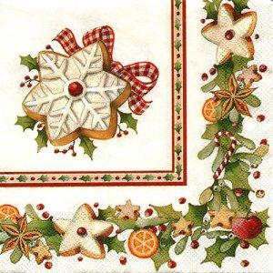 ペーパーナプキン(25)VB:(5枚)クリスマスクッキー-VB4(25)