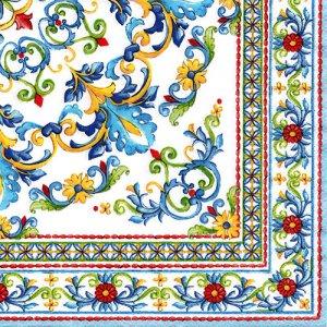 ペーパーナプキン(33)Nuova:(5枚)MEDITERRANEO BLUE-NU145
