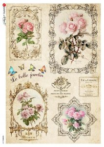 【A3】Paper Designs ライスペーパーFLOWERS_0329