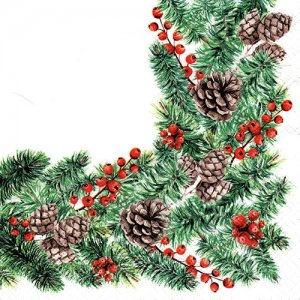 ペーパーナプキン(33)paw:(5枚)Winter Branches-PW205