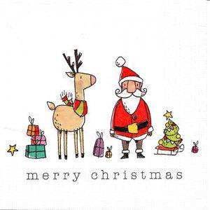ペーパーナプキン(33)ppd:(5枚)Christmas Friends-PP392