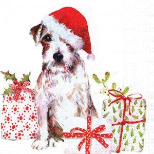 ペーパーナプキン(33)ppd:(5枚)Christmas Pup-PP393