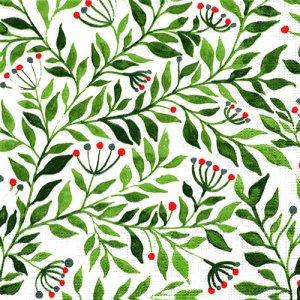 ペーパーナプキン(33)ppd:(5枚)Botanicals Watercolor green-PP400