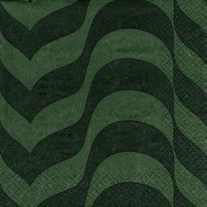 ペーパーナプキン(33)iittala:(5枚)モスグリーン-ii10