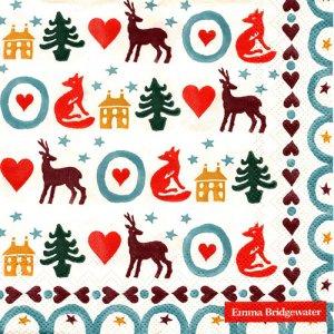 ペーパーナプキン(33)IHR:(5枚)CHRISTMAS BRIGHTS -IH495