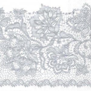 ペーパーナプキン(33)AMB:(5枚)GLORIA SILVER-AM376