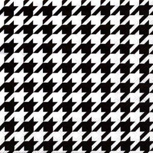ペーパーナプキン(33)AMB:(5枚)Pied-de-Poule BLACK/WHITE(千鳥格子)-AM678