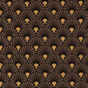 ペーパーナプキン(33)AMB:(5枚)ART DECO(BLACK/GOLD)-AM683