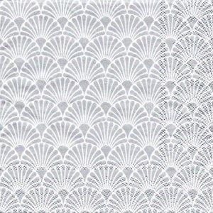 ペーパーナプキン(33)AMB:(5枚)ART DECO(SILVER/WHITE)-AM684