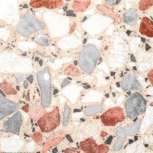 ペーパーナプキン(33)AMB:(5枚)TERRAZZO CREAM(大理石)-AM689