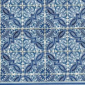 ペーパーナプキン(33)IHR:(5枚)LORENZO blue-IH541