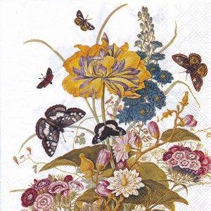 ペーパーナプキン(33)IHR:(5枚)ORNAMENTAL FLOWERS-IH547