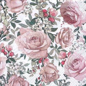 ペーパーナプキン(33)paw:(5枚)Gorgeous Roses-PW216