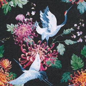 ペーパーナプキン(33)paper duni:(5枚)Japanese cranes-PA337