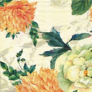 ペーパーナプキン(33)paper duni:(5枚)ダリア(オレンジ)-PA338