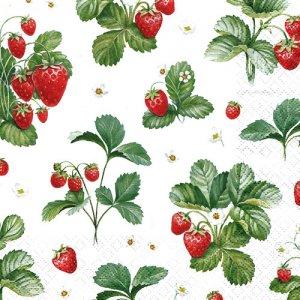 ペーパーナプキン(33)home:(5枚)Strawberry Pattern-HO241