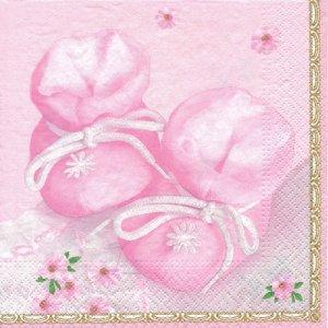 ペーパーナプキン(33)Maki:(5枚)Little Pink Shoes-MA179