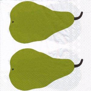 ペーパーナプキン(33)marimekkoマリメッコ:(5枚)【m-114】PAARYNA green