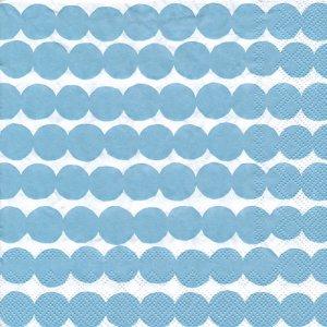 ペーパーナプキン(33)marimekkoマリメッコ:(5枚)【m-115】PASYMATTO light blue