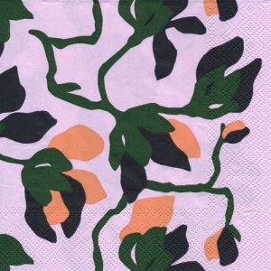 ペーパーナプキン(33)marimekkoマリメッコ:(5枚)【m-119】MIELITTY light rose