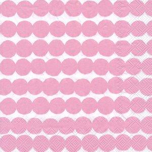 ペーパーナプキン(33)marimekkoマリメッコ:(5枚)【m-109】PASYMATTO white rose