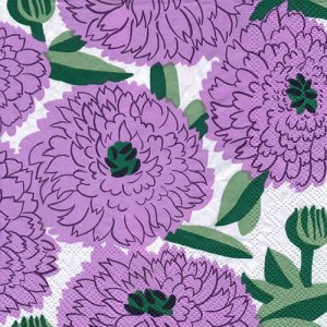 ペーパーナプキン(33)marimekkoマリメッコ:(5枚)【m-125】PRIMAVERA lilac