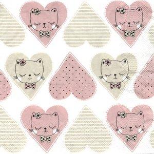 ペーパーナプキン(33)Daisy:(5枚)Sweet Heart Kitty-DA128