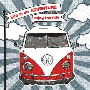 ペーパーナプキン(33)Daisy:(5枚)Enjoy Hippie Ride-DA126